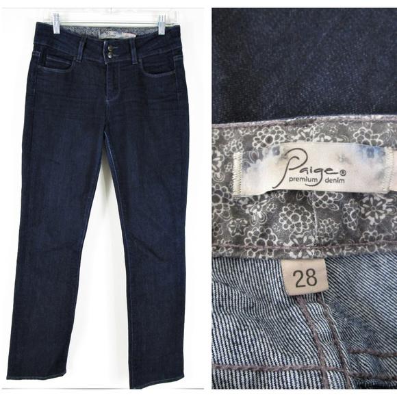 PAIGE Denim - Paige Hidden Hills Dark Wash Straight Jeans